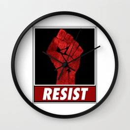 Fist Of Resistance Wall Clock