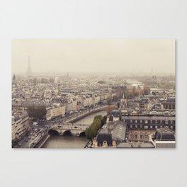Foggy Brained Paris Canvas Print