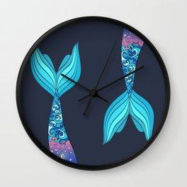 mermaid tail *ocean* Wall Clock