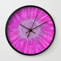 big bang Wall Clocks featuring Big Bang by AsiaMalewsky