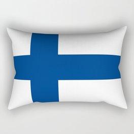 Finnish Flag of Finland  Rectangular Pillow