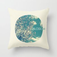 blossom Throw Pillows featuring Blossom by Volkan Dalyan