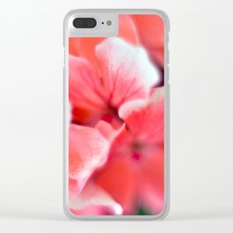 tiny pink flower Clear iPhone Case