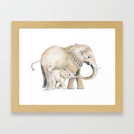 Mom and Baby Elephant 2 Framed Art Print