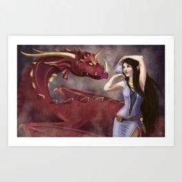 The Dragon Tamer Art Print