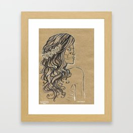 The ghost of bride Framed Art Print