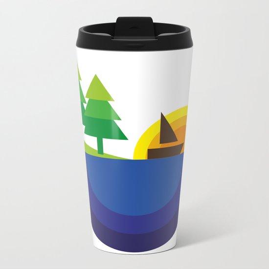 Geometric Landscape Metal Travel Mug