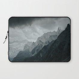 Mountain peaks in Austria, bad weather is coming Laptop Sleeve