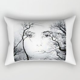 face in the trees Rectangular Pillow
