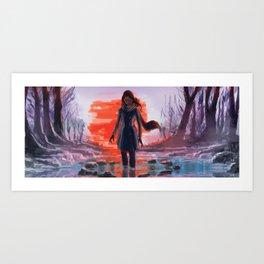 Along the Edge: The Pool Art Print