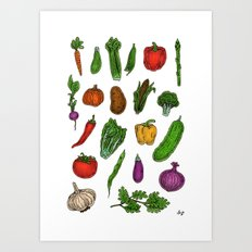 Veggies Art Print
