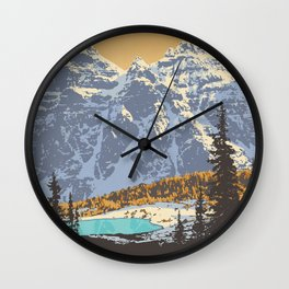 Banff National Park Wall Clock