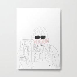 Voguestagram Anna Wintour Metal Print
