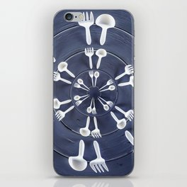 forks and spoons iPhone Skin