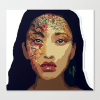 pocahontas Canvas Prints featuring Pocahontas by FannikaRial