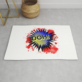 Doh Comic Exclamation Rug