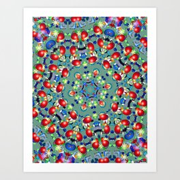 Bead Flower Kaleidoscope Art Print
