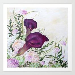 Callas et Renoncule Art Print