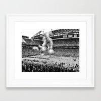 seahawks Framed Art Prints featuring Seattle Seahawks, CenturyLink Field by SefoG