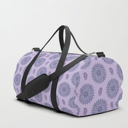 Mandala Paisley Block Print Purple Duffle Bag