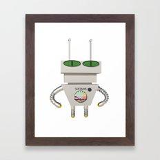 Robot Alien Framed Art Print