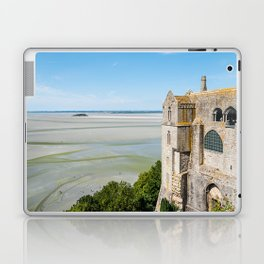Mont Saint-Michel and the bay at low tide Laptop & iPad Skin