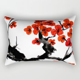 Orange Blossoms Rectangular Pillow