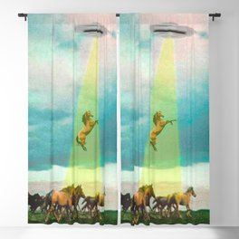 They too love horses Blackout Curtain