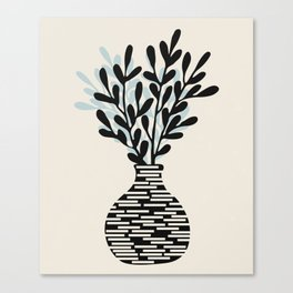 Still Life with Vase and Tree Branches Canvas Print