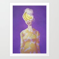 The Changing Face Woman Art Print