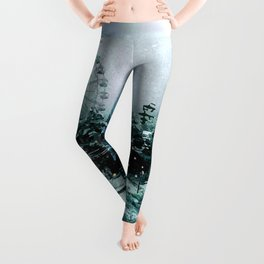 Cold Forest Playground Leggings