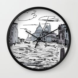 Venice . city on the water . Gift Ideas for Him . Wall Clock