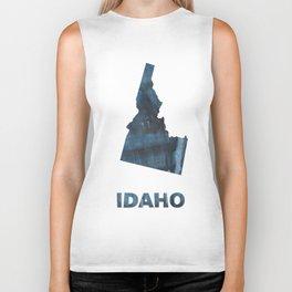 Idaho map Biker Tank
