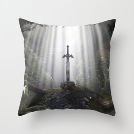 Master Sword in Ruins (Breath of the Wild) Throw Pillow