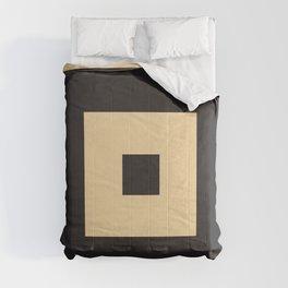 beige et noir Comforters