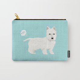 westie funny farting dog breed pure breed pet gifts west highland terrier Carry-All Pouch