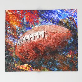 Football ball vs 4 Throw Blanket