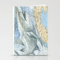 cuba Stationery Cards featuring Cuba Sharks by Carly Mejeur
