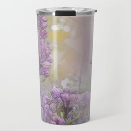Serenity Prayer Lilacs Travel Mug