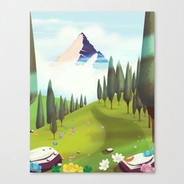 Alpine Meadow landscape Canvas Print