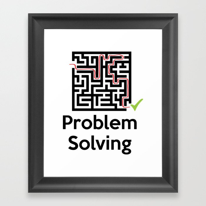 Problem Solving Maze Framed Art Print by azza1070