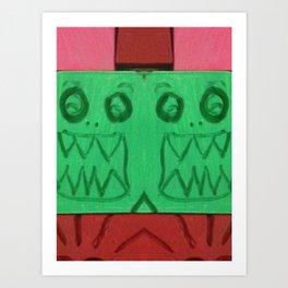 Green Grills Art Print