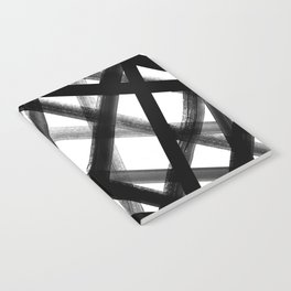Criss Cross Black and White Notebook