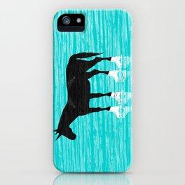 Unicorn On Ice iPhone Case