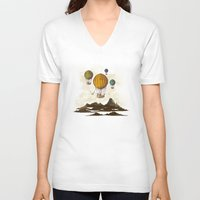 voyage V-neck T-shirts featuring The Voyage by Viviana Gonzalez