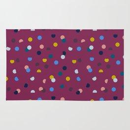 Purple Confetti Spot Rug