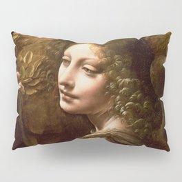 "Leonardo da Vinci Angel in ""The Virgin of the Rocks (London)"" Pillow Sham"