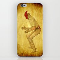 cock iPhone & iPod Skins featuring Cricket cock by Ganech joe