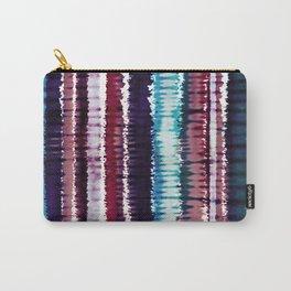 Bohemian Style Tie dye Stripes Design Carry-All Pouch