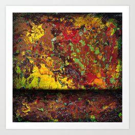 Abstract Distressed #1 Art Print
